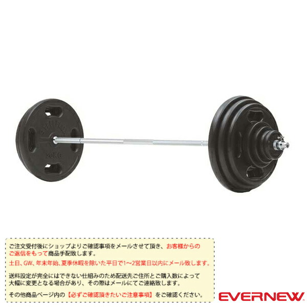 [送料別途]28φラバーバーベル 100kgセット(ETB383)