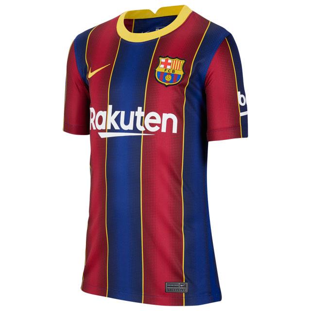 サッカー レプリカユニフォーム ナイキ YTH FC バルセロナ 2020-2021 スタジアム ホーム ブルー 半袖 <BR>【NIKE2020FW】 <BR>CD4500-456
