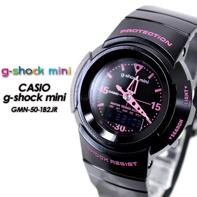 161750e39e781 SPRAY domestic genuine ☆ g-shock mini GMN-50-1B2JR Black x Pink ...