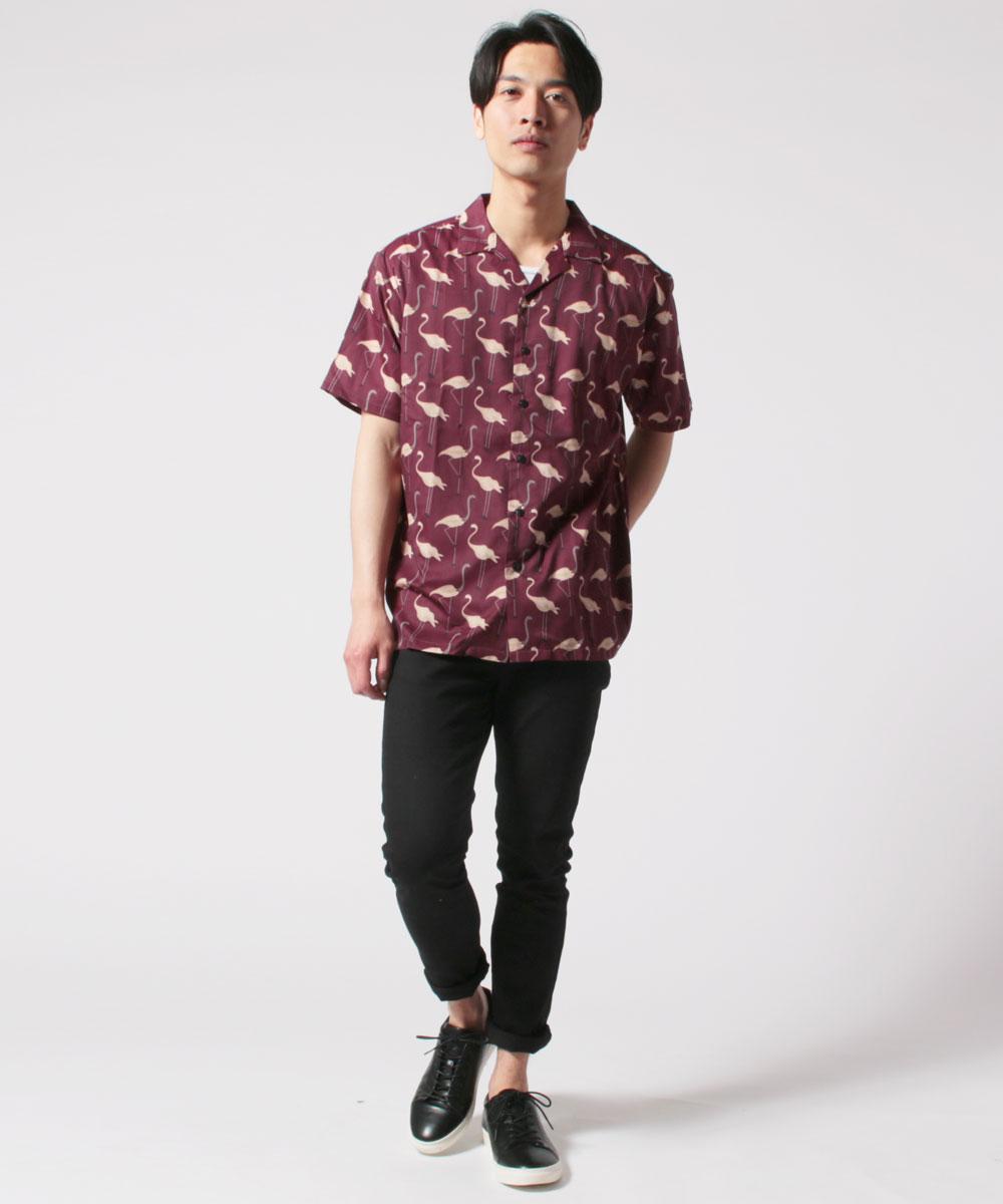 メンズオープンカラーシャツ