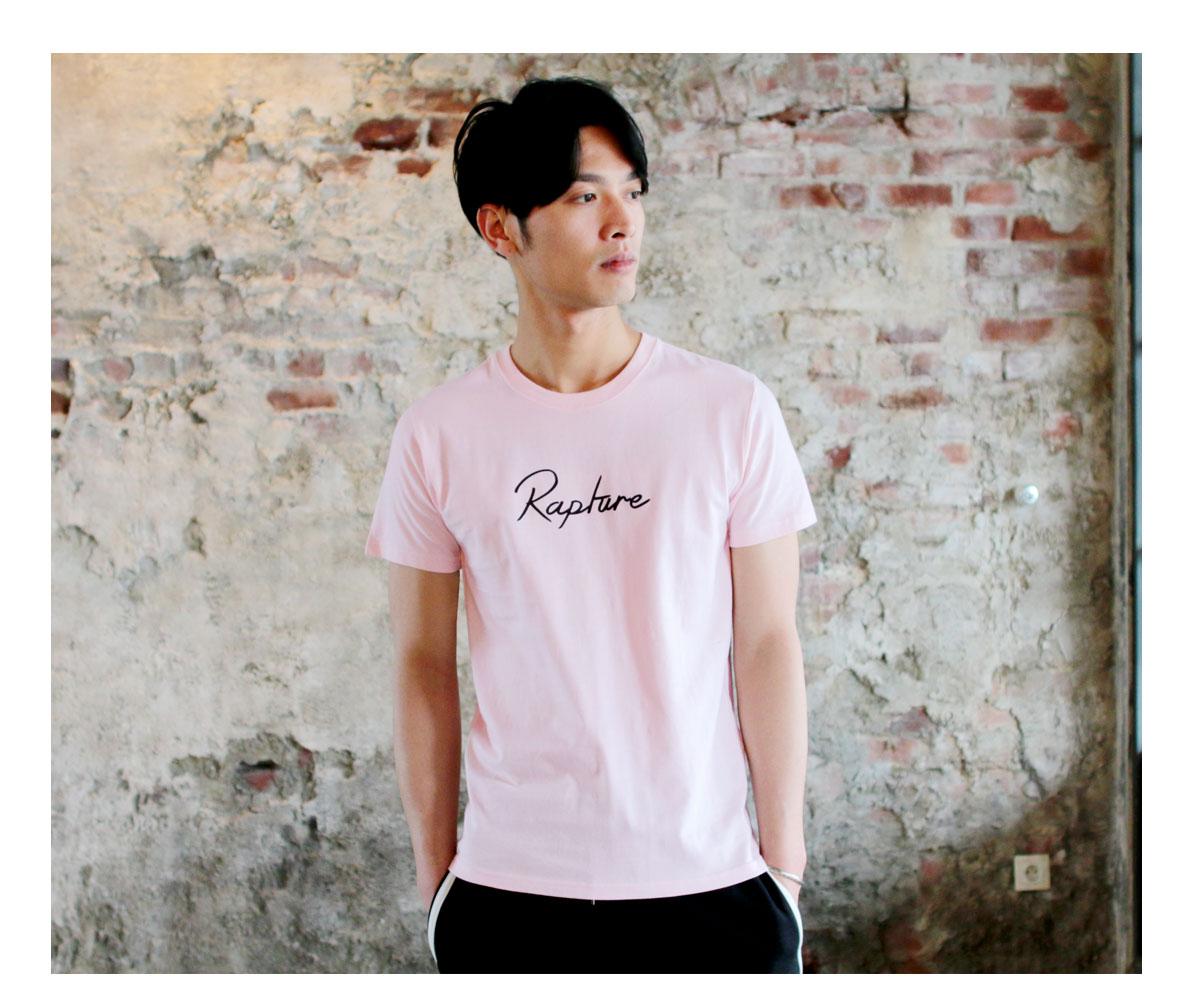 Tシャツ メンズ「Rapture」ピンク