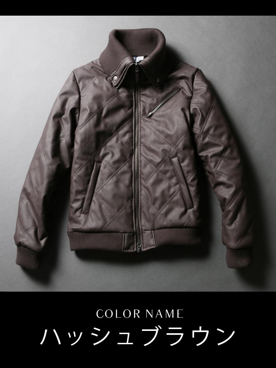WET-PU 中綿 ドンキー襟ジャケット