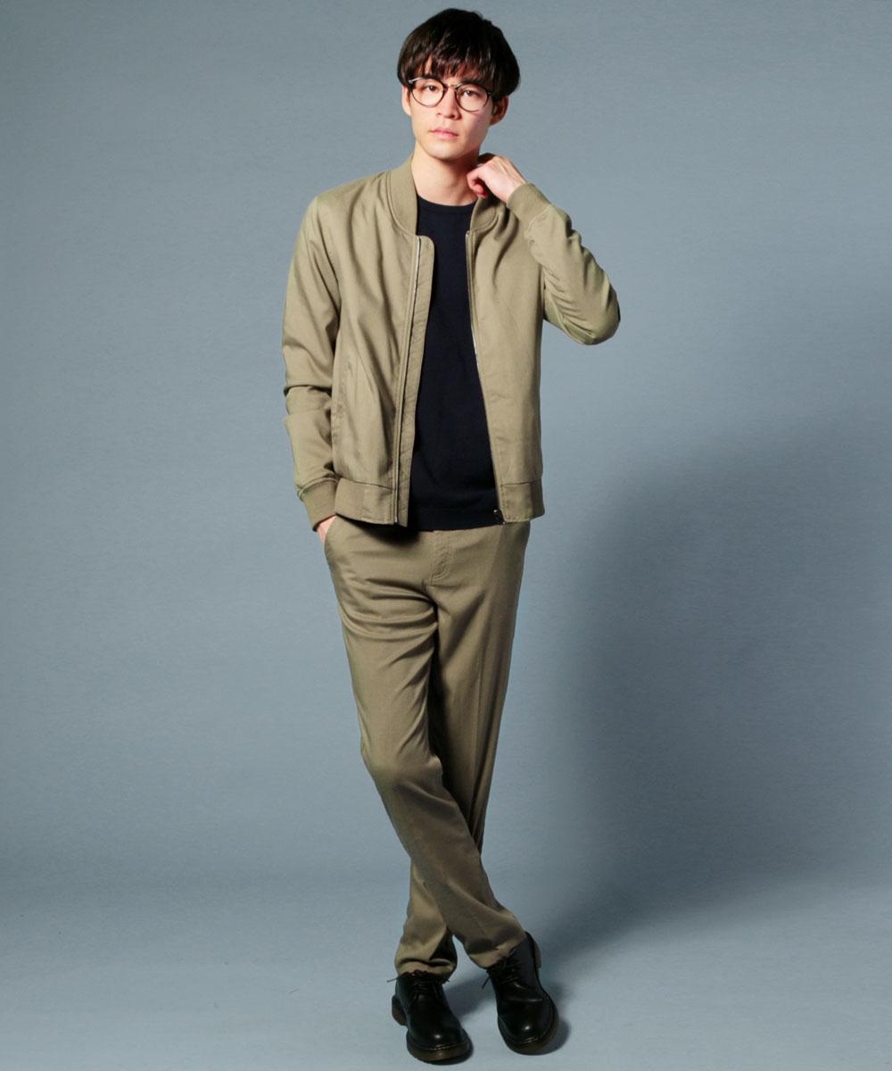 綿100% ブロード ボタンダウン / バンドカラー 長袖 シャツ