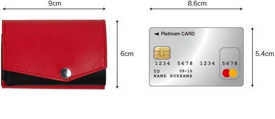 小さい財布 クレジットカードとの対比図