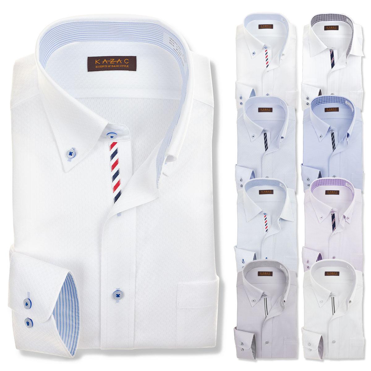 ニット ワイシャツ ※裄詰め対応不可 メンズ 長袖 ノーアイロン ...