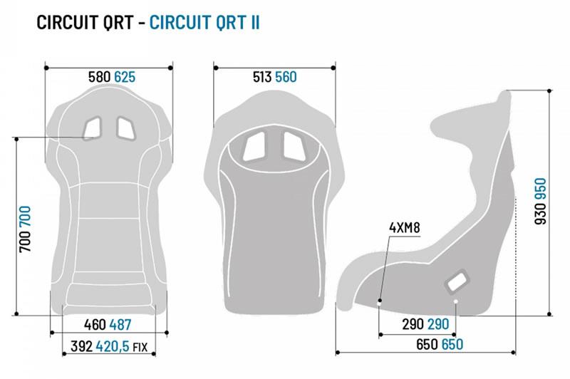 スパルコ,バケットシート,サーキット,qrt,サイズ,寸法