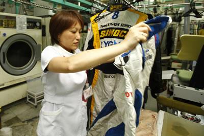 メイクウィナー レーシングスーツ クリーニング 最終チェック