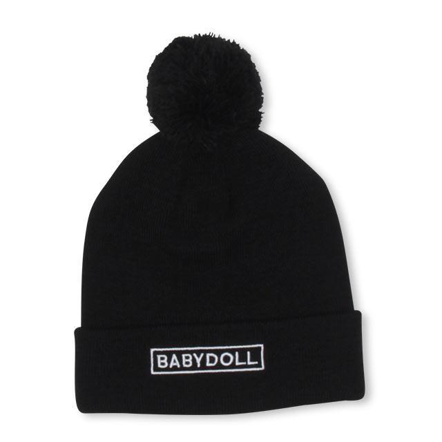 BABYDOLLの帽子/ニット帽|ブラック