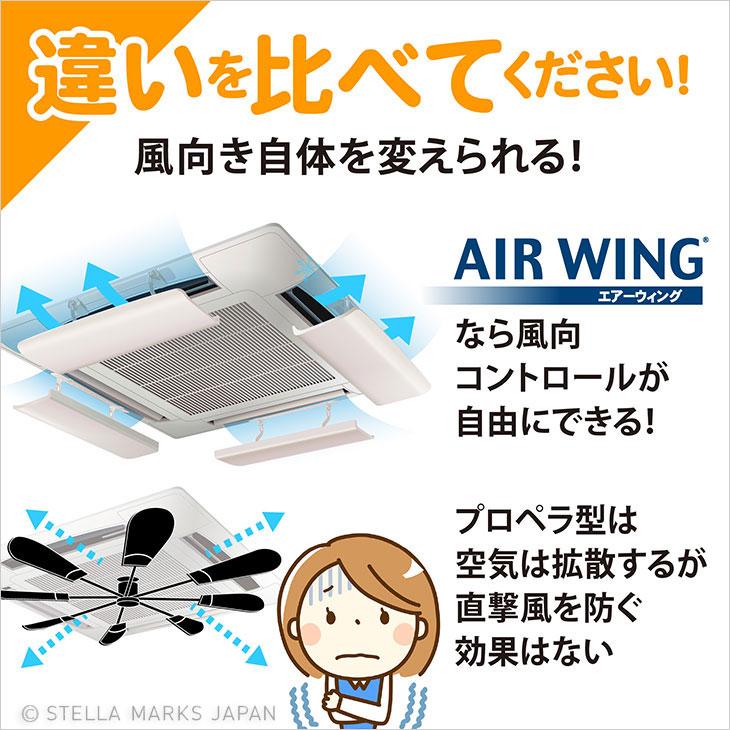 ファン プロペラ 風除け 風よけ 比較 調整 風向 エアウイング エアウィング 直撃 拡散 コントロール 風