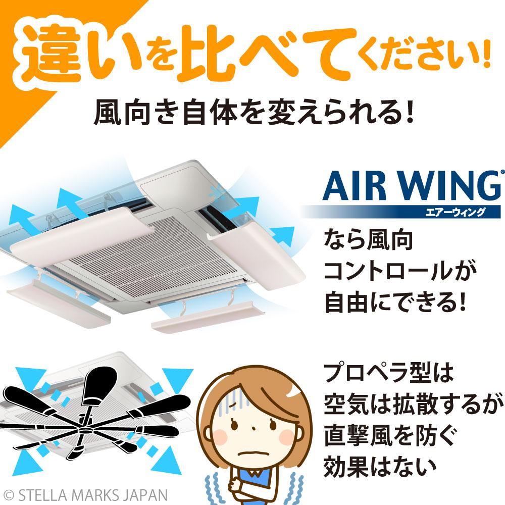ファン プロペラ 風除け 風よけ 比較 調整 風向 エアウイング エアウィング 直撃 拡散 風 羽