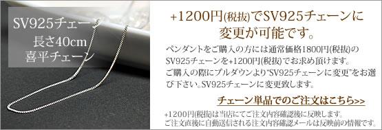 +980円で SV925 チェーン に変更可能です