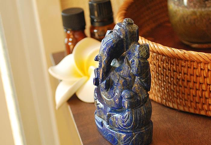 【一点もの!】ガネーシャ(ラピスラズリ) 手彫り置き石 天然石 パワーストーン