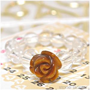 ローズリング(薔薇) タイガーアイ<天然石リング>