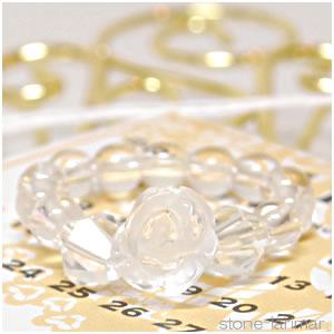 ローズリング(薔薇) 水晶<天然石リング>