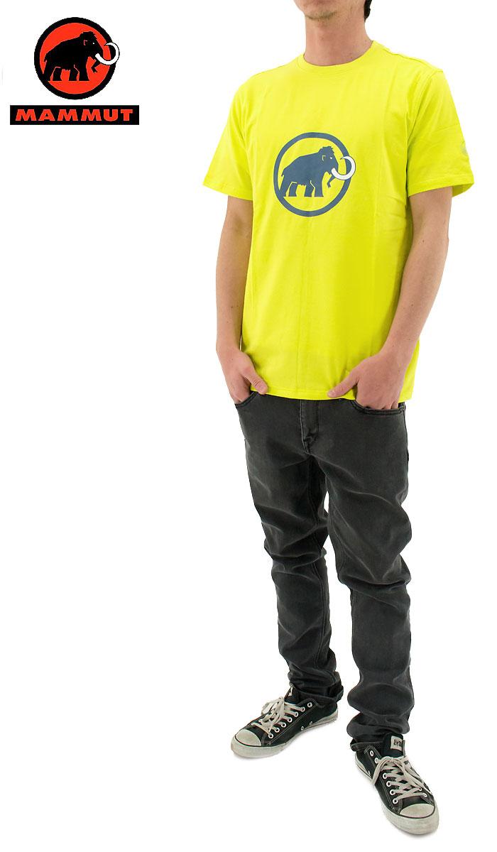 【セール】 Mammut(マムート) ロゴTシャツ オーガニックコットン 1041-07290 (1205/LIMEABE) 黄色