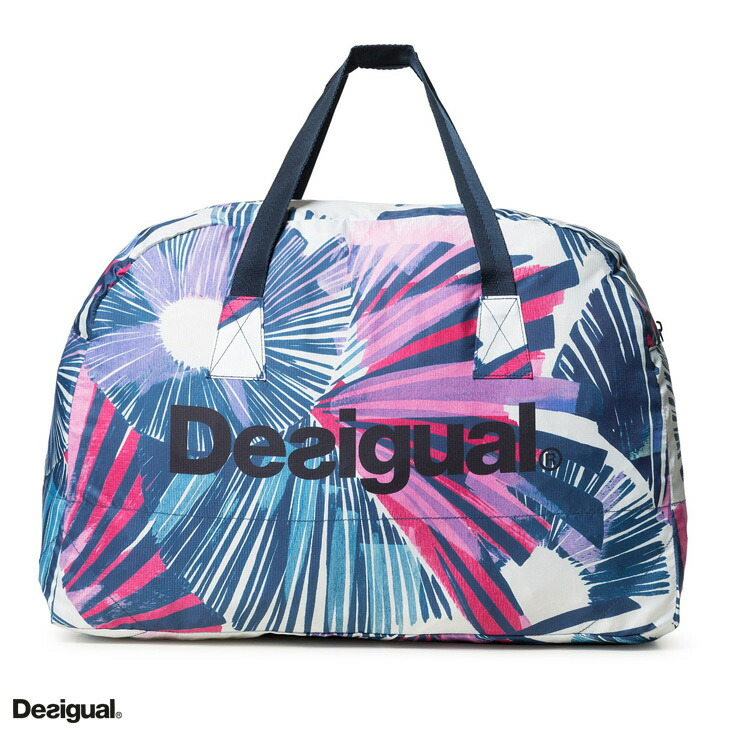 Desigual デシグアル Whole Pattern Gym Bag White Foreign Countries フィットネスウェアズンバウェア La Body Lady S