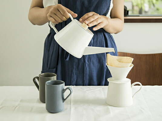 お湯の量を、細くも太くも調節しやすいドリップケトル