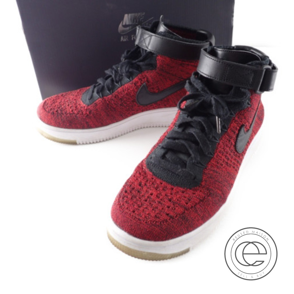 quality design db858 748ee NIKE Nike 817,420-600 AIR FORCE 1 ULTRA FLYKNIT MID air force 1 ultra fly  knit mid sneakers shoes 27 UNIVERSITY RED/BLACK-TEAM RED-WHITE men