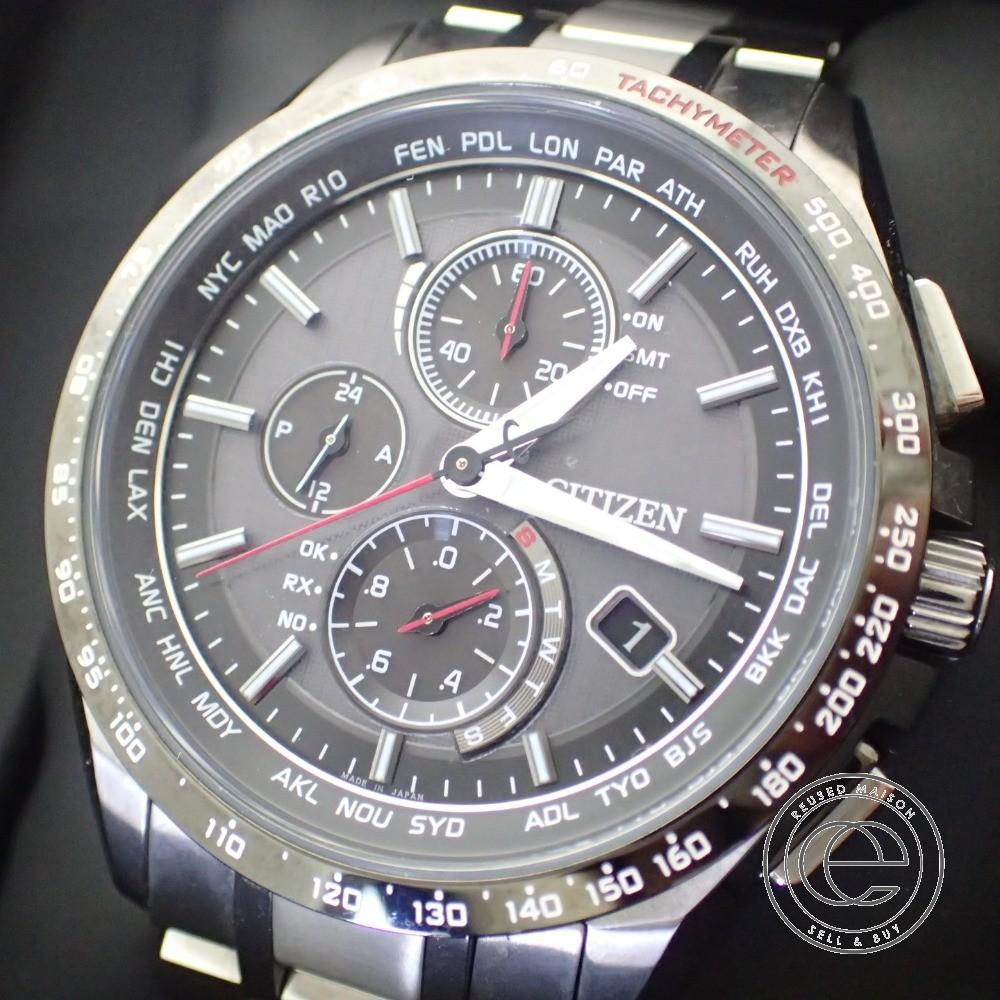 931f756366 CITIZEN / シチズン ATESSAアテッサ AT8144-51E 電波ソーラーダイレクトフライト クロノグラフ 腕時計