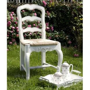カントリーコーナー 【Country Corner】 ROMANCE ロマンス・コレクション ダイニングチェア ウッドシート 白家具 フランス ホワイト 椅子 送料無料 フレンチカントリー アンティーク風 [211013]
