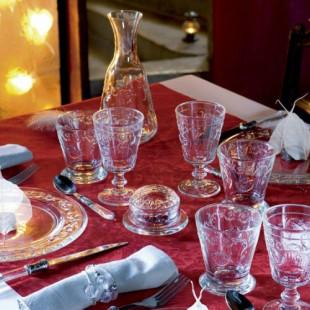 ガラスコップ ゴブレット(アンボワーズ290cc) フランス製 【La Rochere】 ラロシェール アンポワーズ ウォーターグラス タンブラー ガラス食器 シャビーシック お洒落