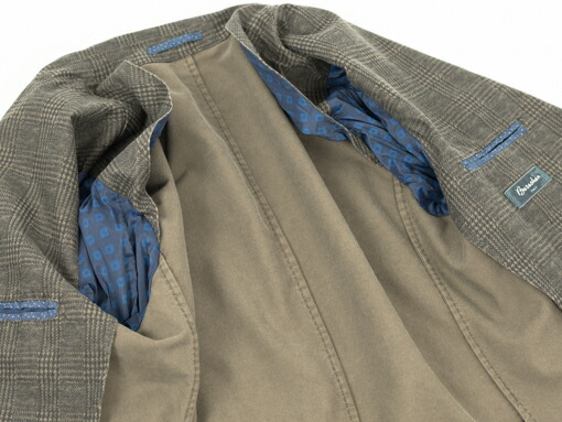 Barashan バラシャン ストレッチコットン 2ボタン パッチポケット メンズ ジャケット