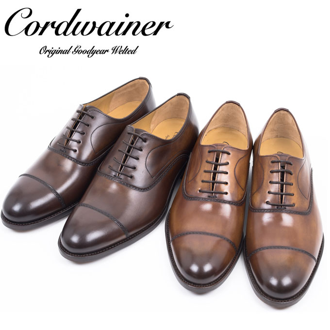 Cordwainer コードウェイナー 【NEW LEATHER】SLOUGH ESPRESSO ストレートチップ レザーソール シューズ
