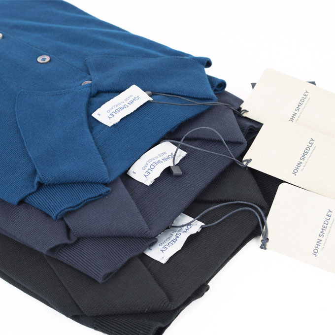 JOHN SMEDLEY ジョン スメドレー 30ゲージ【S3798-BLACK】 ブラック ポロシャツ ニット