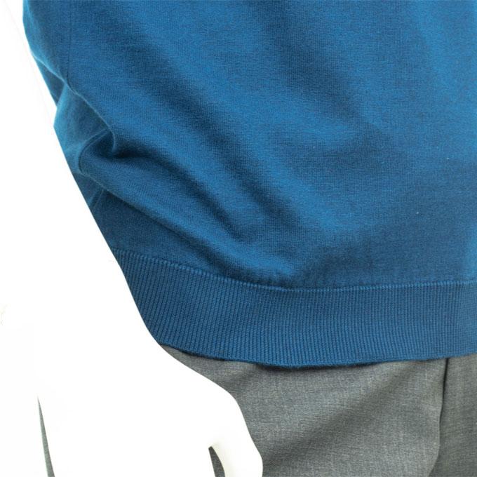 JOHN SMEDLEY ジョン スメドレー インディゴ 30ゲージ ポロシャツ ニット