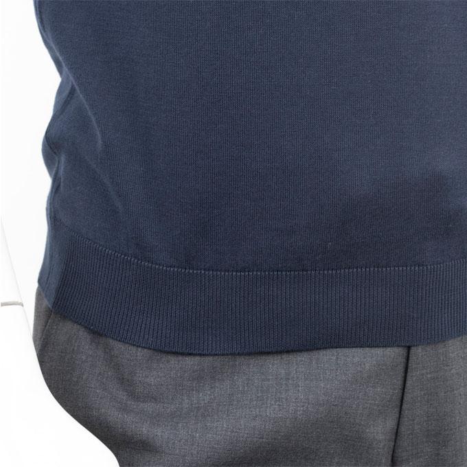 JOHN SMEDLEY ジョン スメドレー 30ゲージ【S3798-NAVY】 ネイビー ポロシャツ ニット