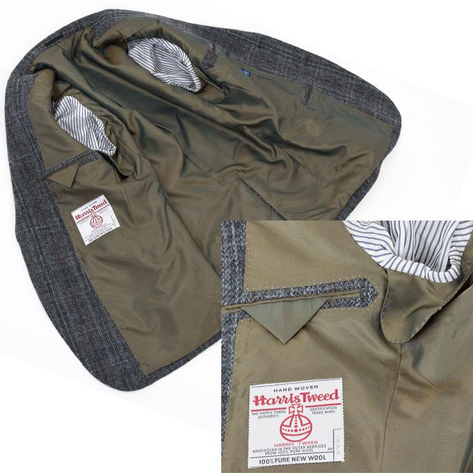 Style Edition スタイルエディション Harris Tweed ハリスツイード ウインドペン グレー 2ボタン ジャケット