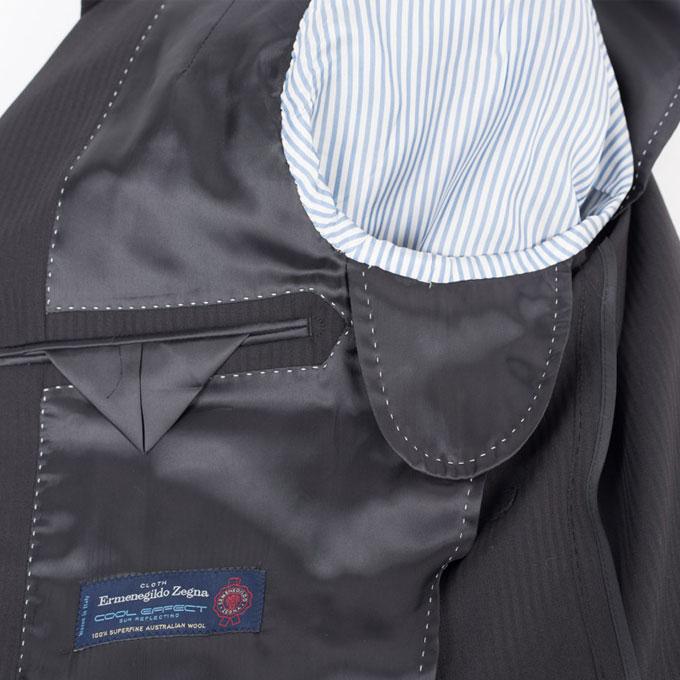 Style Edition スタイルエディション Ermenegildo Zegna エルメネジルド ゼニア COOL EFFECT シャドウストライプ ブラック スーツ