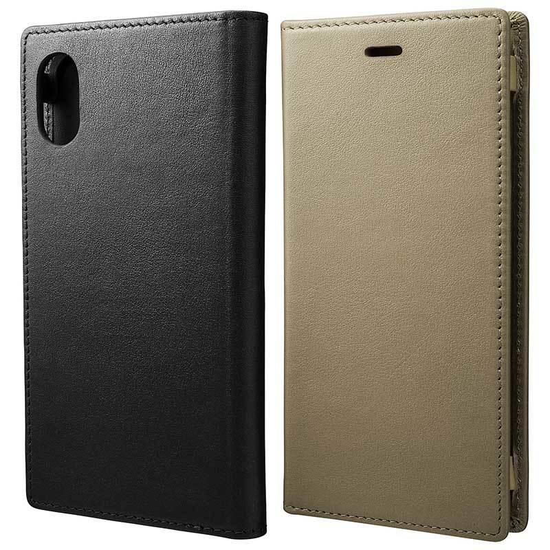 5feff8d760 iPhone Xケース GRAMAS(グラマス) 本革薄型手帳型ケースGLC70337。スマートで超薄型高級本革(牛革)製ダイアリータイプフルレザー アイフォンカバー カード収納付き ...