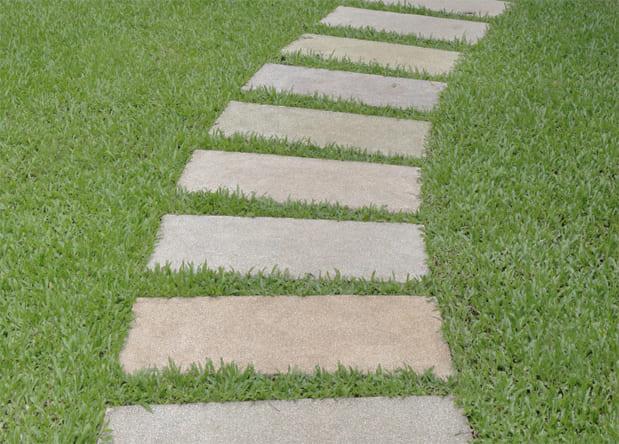 庭 ガーデニング キャッスルストーンの施工写真真