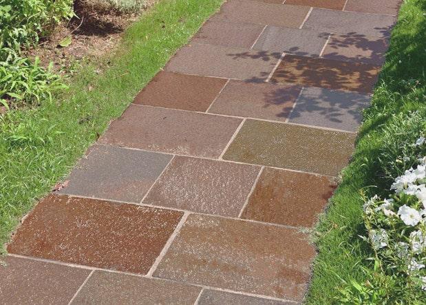 庭 ガーデニング  ジャワ鉄平石の施工写真真