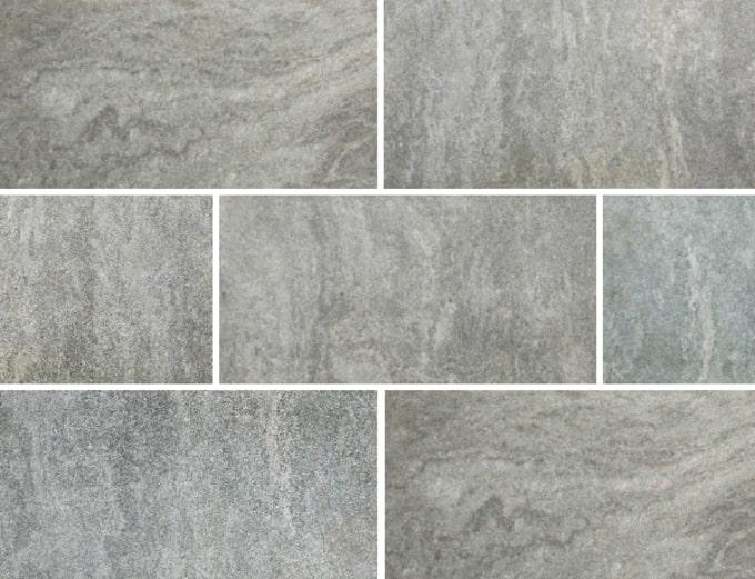 庭 ガーデニング 石英岩 クォーツサイト 300×600角の施工写真真