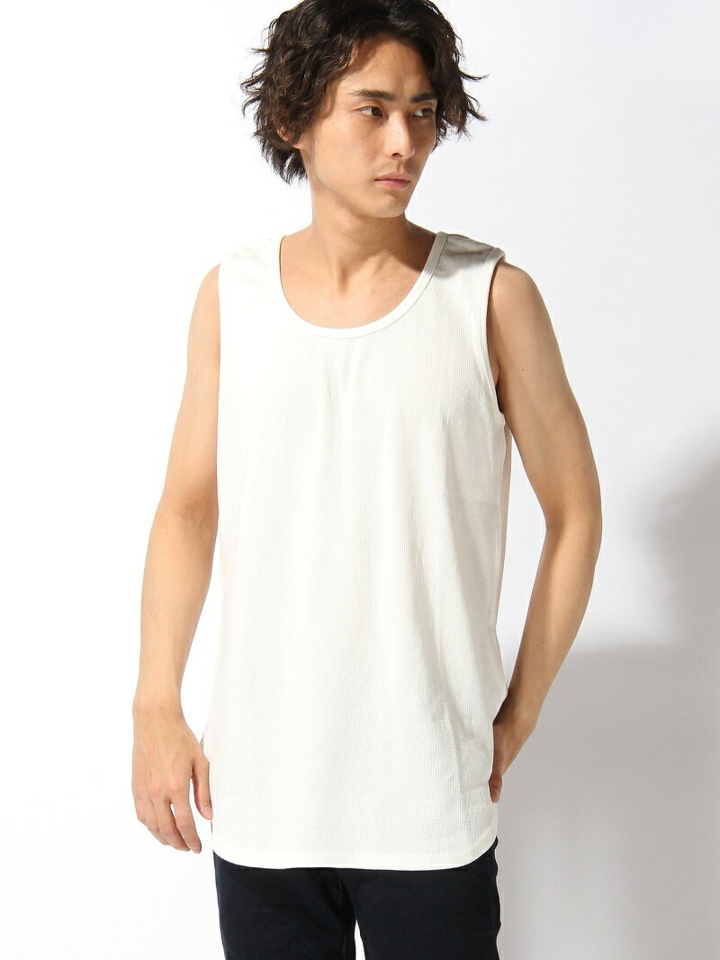 【SALE/23%OFF】BROWNY STANDARD BROWNY STANDARD/(M)ワッフルラウンドタンクトップ ウィゴー カットソー【RBA_S】【RBA_E】