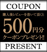 レビューを書いて頂くと500円クーポンプレゼント