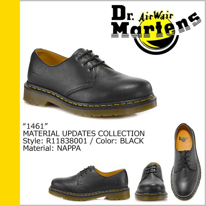 dr martens 1461 nappa black, DR. MARTENS MODERN CLASSIC