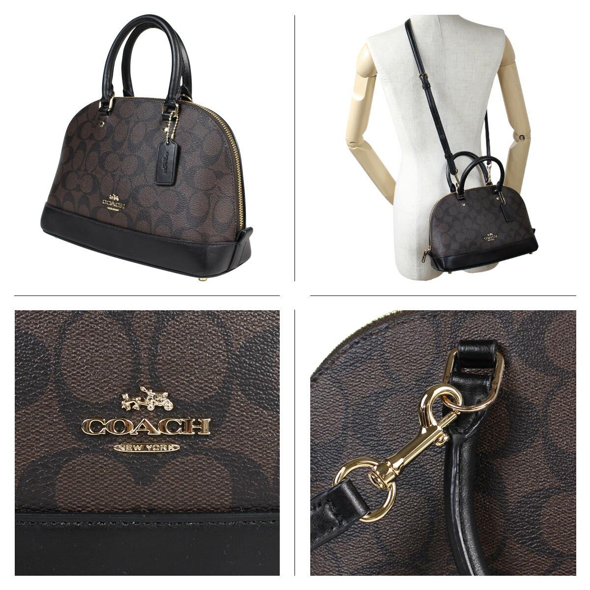 ba5e80a2e ... COACH coach bag shoulder bag Lady's MINI SIERRA SATCHEL IN SIGNATURE  COATED CANVAS F59295 brown ...
