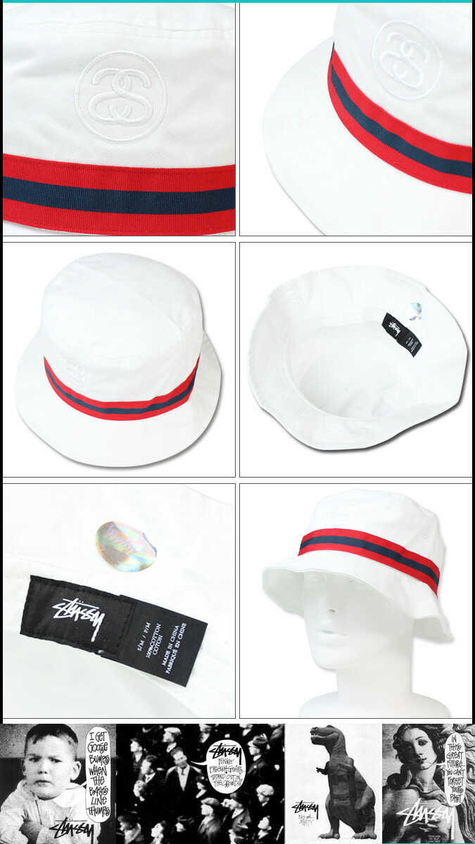 2bf34bf6d3e stussy link band bucket hat