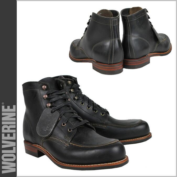 d8eba0b699b WOLVERINE 1000 マイルブーツウルヴァリン 1000MILE work boots COURTLAND BOOT D Wise  W00279 black black