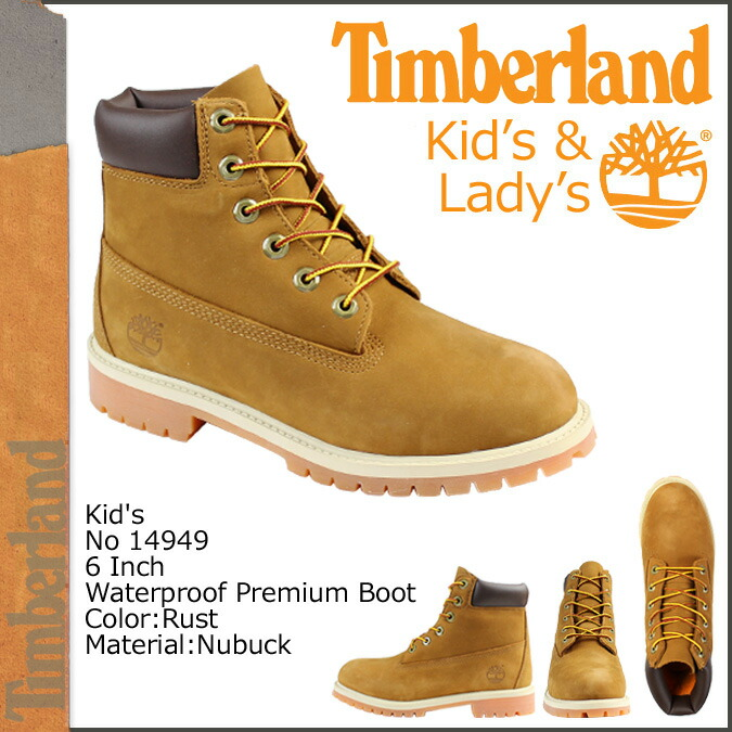 49ec7471453 Timberland Timberland 6INCH 6 inches premium boots Lady's JUNIOR 6-INCH  PREMIUM BOOT 14949 waterproofing