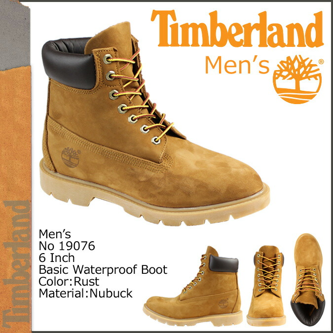 Timberland Timberland 6INCH 6 inches boots 6 INCH BASIC BOOT 19076 D Wise waterproofing men