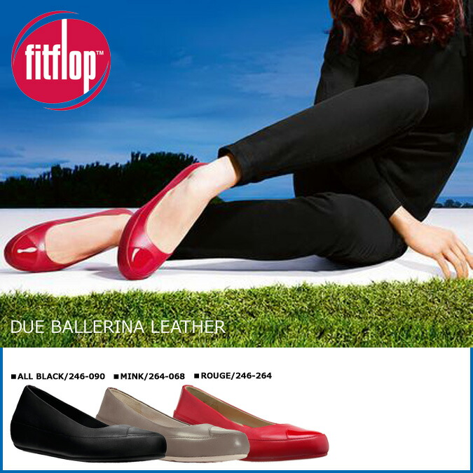 Fitting FLOP FitFlop Douai pumps DUE leather shoes loafer 246 4 color Lady's