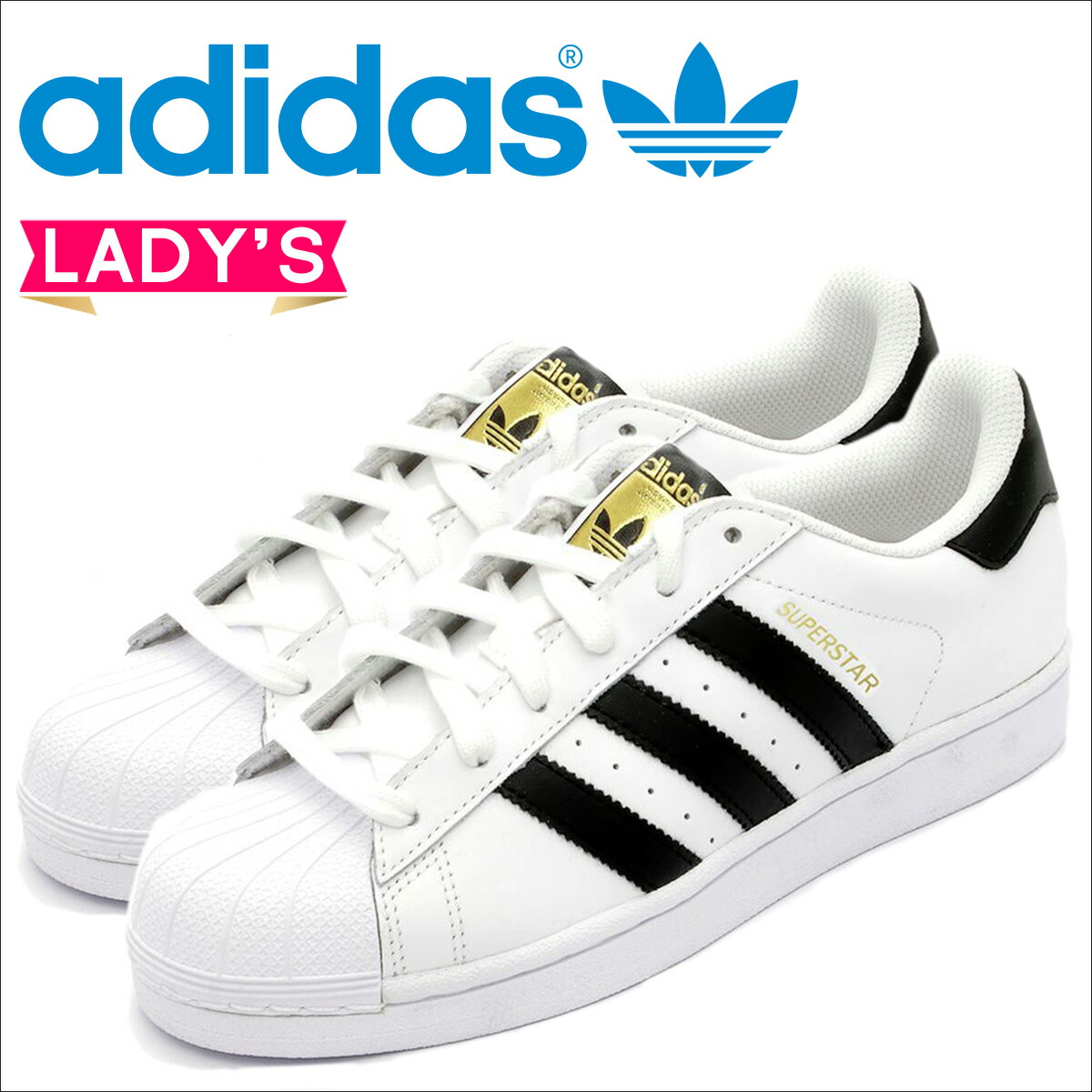 adidas Originals Adidas originals superstar sneakers Lady's SUPERSTAR J C77154 shoes white white