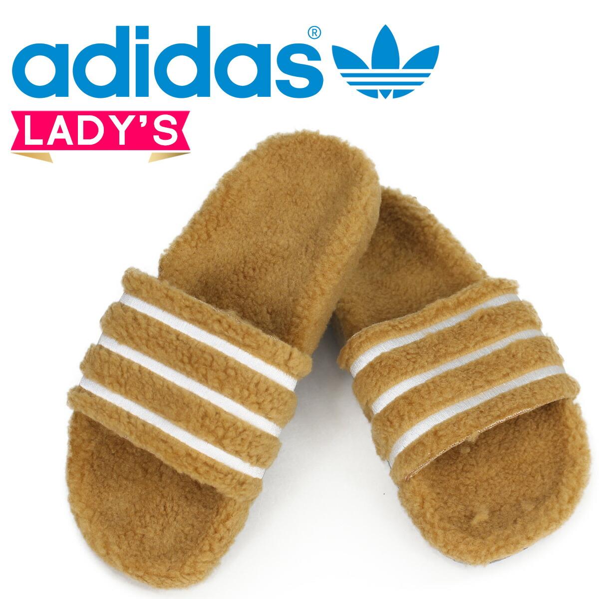 アディダス アディレッタ adidas Originals レディース サンダル シャワーサンダル ADILETTE W CQ2233 ブラウン オリジナルス [2/13 新入荷]