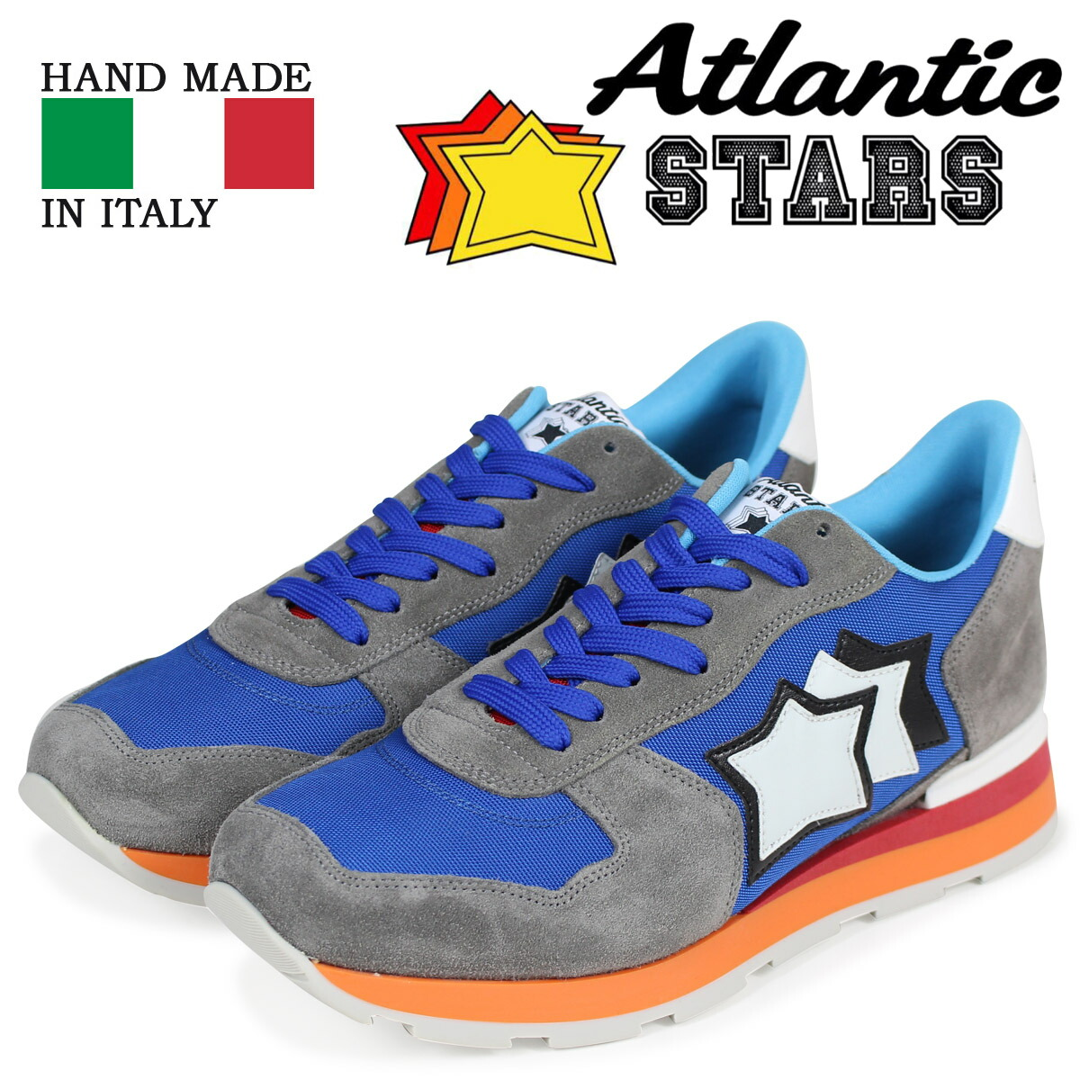 アトランティックスターズ メンズ スニーカー Atlantic STARS アンタレス ANTARES ANR-85B ブルー [2/9 新入荷]