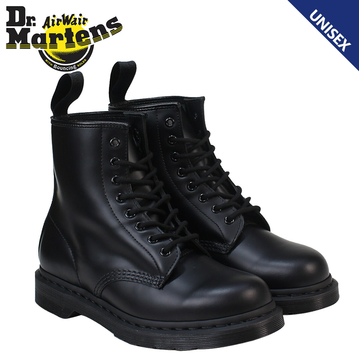 8c2541ee462 Dr.Martens 8 hall boots doctor Martin 1460 men's lady's 8EYE MONO BOOT  R14353001