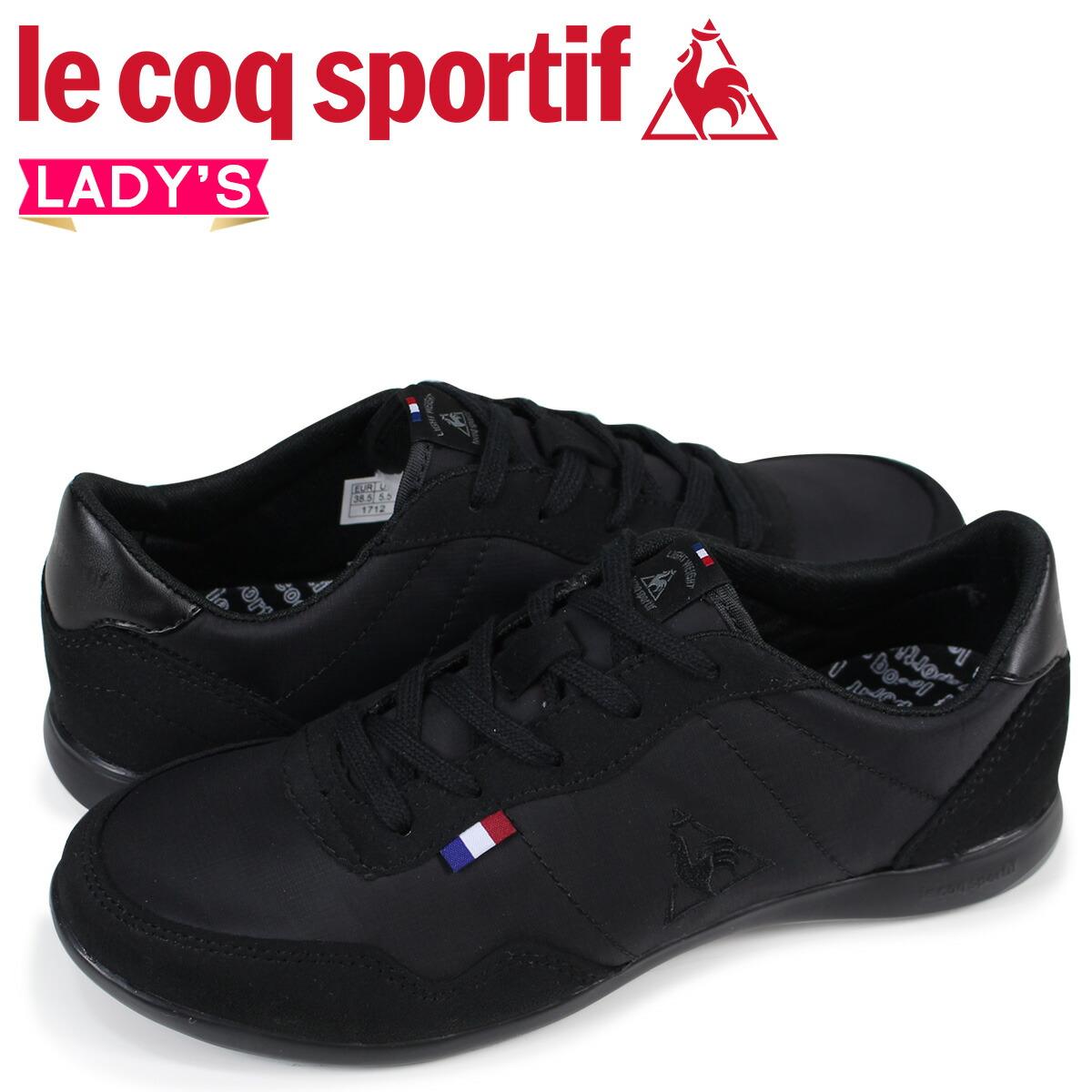 ルコック スポルティフ le coq sportif レディース スニーカー セギュール II ワイド SEGUR II WIDE ブラック QFM-6113BK [2/10 新入荷]